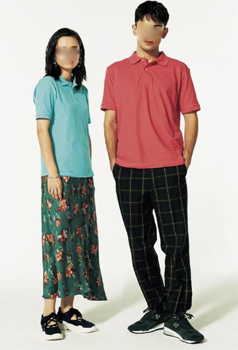 オリジナルポロシャツのモデル着用イメージ