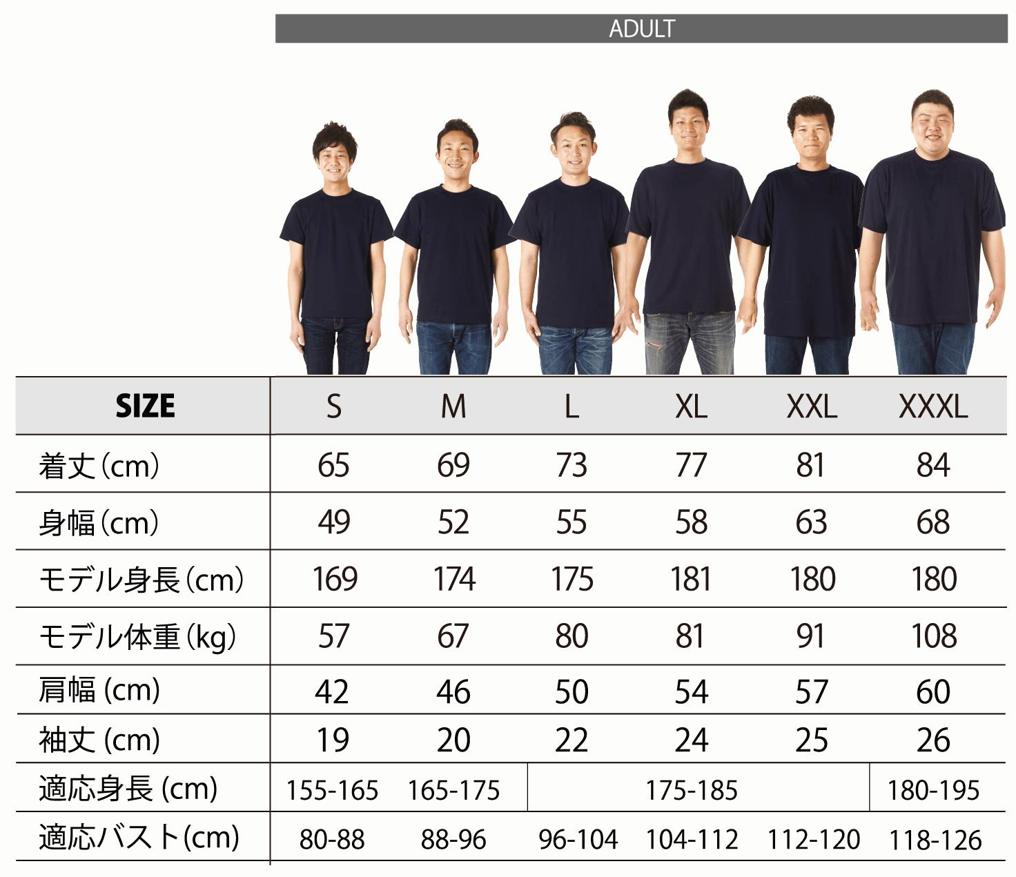 男性用シルエット詳細