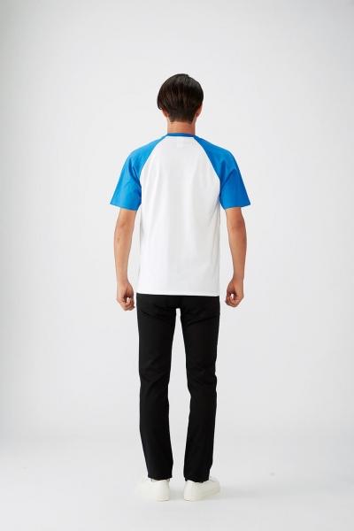 176㎝*Mサイズ(白×ヘザーロイヤルブルー)